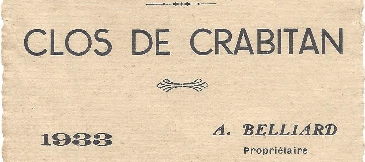 Photo of a label in 1933